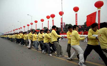 2008 delegates attended Tug of War in Changsha city